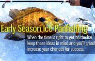 Early Season Ice Panfishing